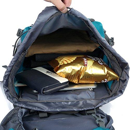 Outdoor Bergsteigen Tasche 80 + 5 Liter Männer Und Frauen Sport Große Kapazität Wasserdichte Camping Rucksack,Black Black