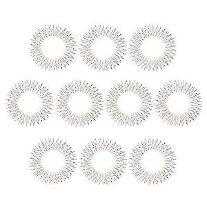 10 x Akupressur Massageringe in silber klein