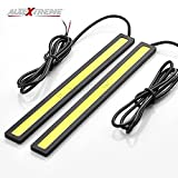 #10: AllExtreme Ultra Bright Daytime Running LED Lights DRL Waterproof Slim Chip COB LEDs Generation Daylight Driving Light For Bikes Cars Universal (6W, White, Pack of 2)