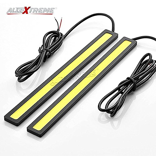 AllExtreme 2 pcs Set of Ultra Bright High Quality Daytime Running Lights LED DRL Waterproof IP67 High Power 6W 12V Slim Chip COB LEDs Generation DRL Daylight Driving Light Daytime Running Light For Vehicle Universal For Car - White  available at amazon for Rs.259