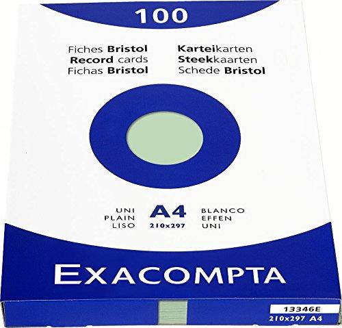 exacompta-13346e-cartoncini-bristol-21x29-cm-verde