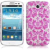 JAMMYLIZARD | Damast- Motiv Back Cover Hülle für Samsung Galaxy S3 / S3 NEO, ROSA