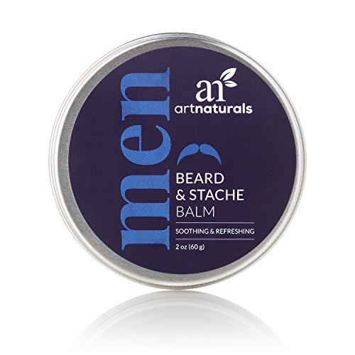 ArtNaturals Mustache and Beard Balm-Oil – 60ml – Natural Wax Leave In Conditioner that Soothes Itching, Thickens, Strengthens, Softens, Tames and Styles Facial Hair Growth