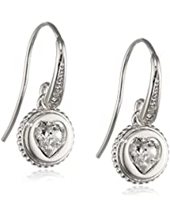 Guess boucles d'oreilles pendantes femme-laiton-verre blanc-uBE21522