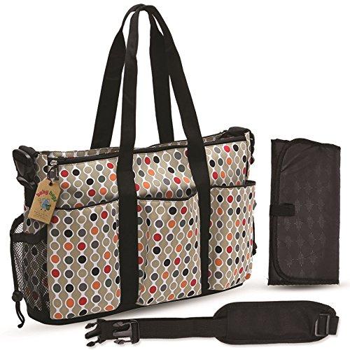 Babyhugs® Grand sac à langer 3 en 1 à motif de pois colorés