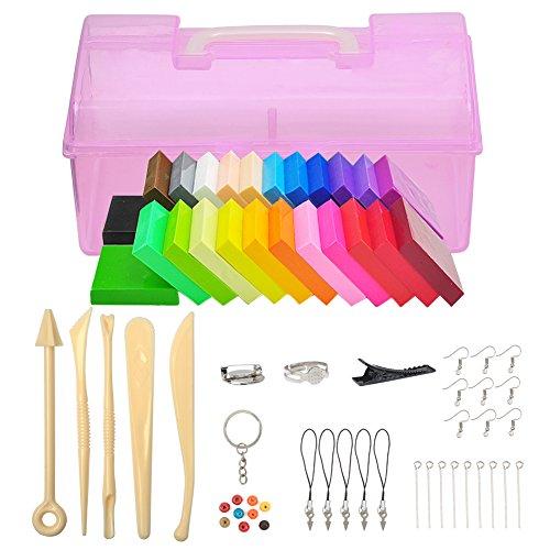 Meerveil Kit de arcilla polimérica de colores (24 color)