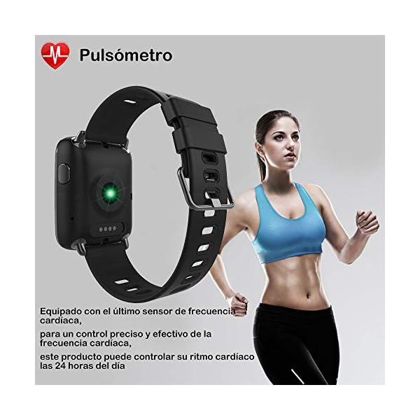 Willful Smartwatch con Pulsómetro,Impermeable IP68 Reloj Inteligente con Cronómetro, Monitor de sueño,Podómetro,Calendario,Control Remoto de música,Pulsera Actividad para Android y iOS 3