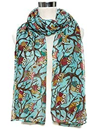 World of Shawls vendeur anglais NEUF femmes femmes chouette sur branche  impriméécharpe écharpes MAXI enveloppant sarong 3e159b45f91