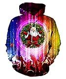 Syaimn Unisex 3D Galaxy Reißverschluss Hoodie Sweatshirt Fleece Pullover mit Kapuze Shirts Pocket X-Large