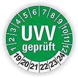 5-1.000 Stück Prüfplaketten Prüfetiketten Wartungsetiketten UVV Prüfung Ø 40mm (Grün 30 Stück)