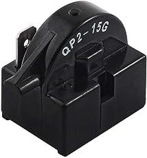 Wuudi Starter Relais QP2–15g Kunststoff Shell Single Pin Kühlschrank PTC Starter Relais 15Ohm