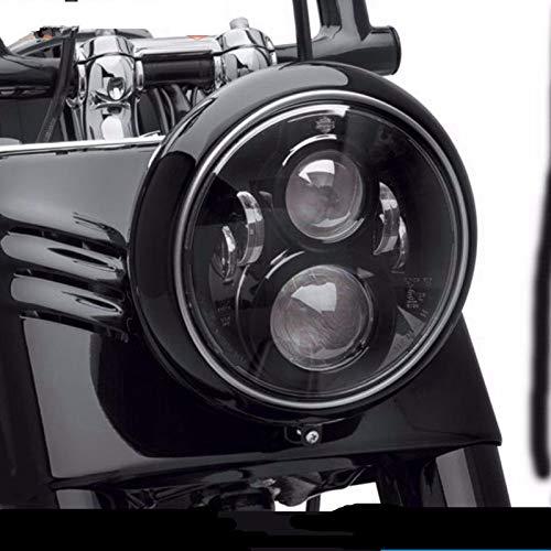 Faro rotondo 7 pollici a LED occhi d'angelo con DRL bianco/Ambra indicatori di direzione Halo per Harley Davidson Moto J eep Wrangler JK LJ TJ