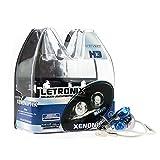 LETRONIX Halogen Auto Lampen H3 12V 8500K Kalt Weiß Xenon Optik Gas Ultra White Look Birnen Lampe Abblendlicht Nebelscheinwerfer Fernlicht Kurvenlicht Zulassung E-Prüfzeichen (LED Optik) (H3 55W)