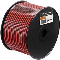 MANAX MX-SC2150T-20 Lautsprecherkabel Boxenkabel 2 x 1,50 mm/² CCA transparent 25 m Rolle