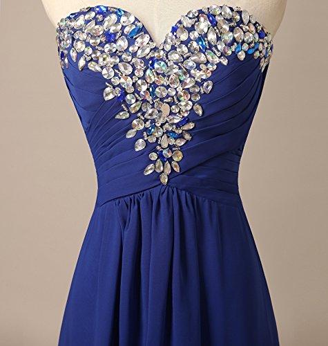 Bridal_Mall - Robe - Trapèze - Sans Manche - Femme - roryal blue