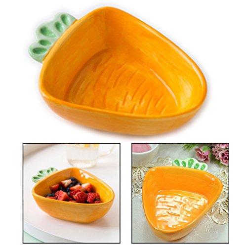 OFKPO Cuenco de Cerámica con Forma de Zanahoria para Bebe Niños, para Postres, Fruta, Sopa, ect