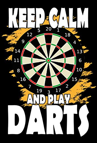 Blechschild 20x30cm Keep calm and play Darts Metall Schild