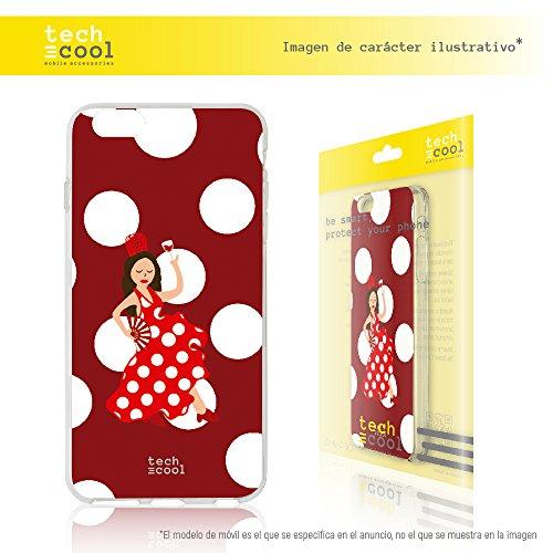 Cover Meizu M5S TechCool® Custodia in Silicone (TPU) per Meizu M5S [Design Esclusivo, Stampa ad Alta Definizione] Colori Molto Vivaci, Flessible, Sottile (1,5mm spessore), Anti-Urto