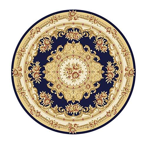 Tappeto rotondo tappeti rotondi stile americano per soggiorno camera da letto corridoio zerbino computer sedia cuscino girevole sedie cestino assorbimento d'acqua tappeto antiscivolo verde rosso blu