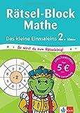 Klett Mein Rätsel-Block Einmaleins-Rätsel: Mathematik 2. Klasse (Die kleinen Lerndrachen)