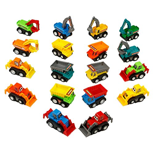 Vehículos de Construcción Mini Coches Juguetes Niños Set de Camione