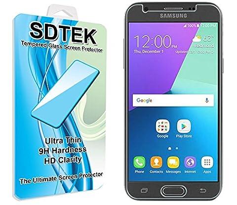 SDTEK Samsung Galaxy J3 (2017) Verre Trempé Protecteur d'écran Protection Résistant aux éraflures Glass Screen Protector Vitre Tempered