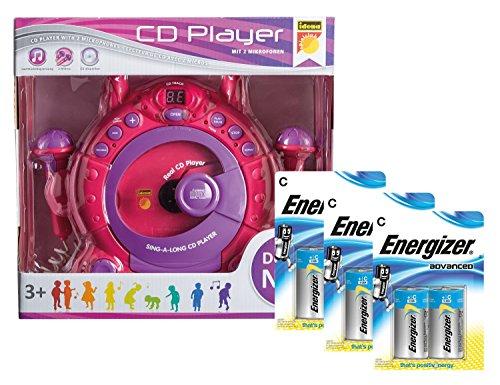 idena 10111142b enfants lecteur cd sing along avec 2 micros et cran led avec piles energizer. Black Bedroom Furniture Sets. Home Design Ideas