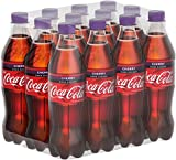 Coca-Cola Zero Sugar Cherry/Fruchtiges Erfrischungsgetränk ohne Zucker in handlichen Flaschen mit originalen Kirschgeschmack / 12 x 500 ml Einweg Flasche, 6000 ml