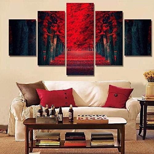 PEKSLA Mangroven-Kniebeugen Moderne Wohnzimmer büro Dekoration Geschenk vlies leinwand Druckmuster leinwand wandkunst 200x100 cm / 78,8
