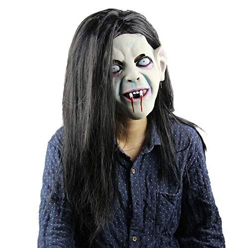 ZX Halloween Maske Kopfbedeckung Curse Scorpion Bleeding Scary Geistermaske Scorpion Horror Kopfmaske,Blau,MJ