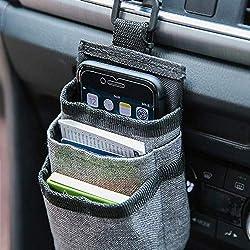"""Chris.W Kfz-Halterung für die Lüftungsschlitze, alle Aufbewahrungsboxen für das Auto, Handyhalterung mit Ladeanschluss, Sonnenbrille, Auto, 3.54"""" W x 2.75"""" D x 5.7"""" H, grau"""
