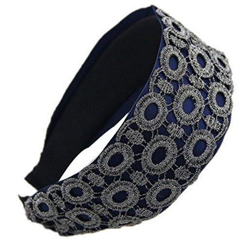 Style coréen large élégant Bandeau Hairband Coiffe Accessoires cheveux, Bleu