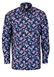 OLYMP Luxor Comfort fit Hemd Langarm Florales Muster blau Größe 41