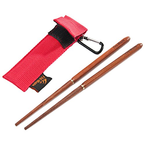 51ZTi9E2hpL. SS500  - TwinkBling Portable Chopsticks Foldable Wooden Chopsticks for Camping Hiking with Pouch