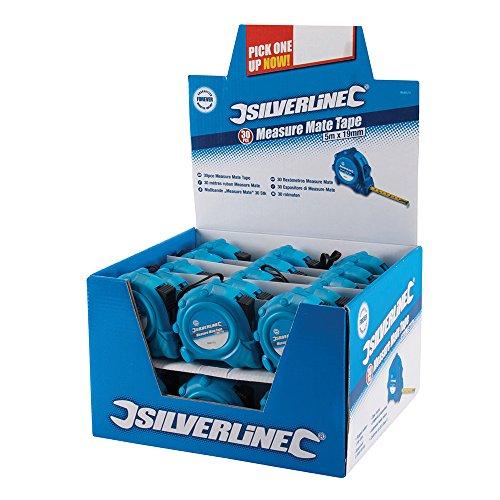 Silverline 868620 Caja Expositora Flexómetros Measure