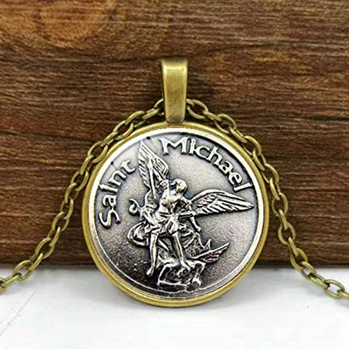 Kostüm St Michael Jungen - Männer Halskette Erzengel St.michael Schützen Mich Saint Shield Schutz Charme Russischen Orhodox Anhänger Für Heiliges Geschenk