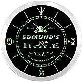 ncpi0383-g EDMUND'S Golf 19th Hole Pub Bar Beer LED Neon Sign Wall Clock Uhr Leuchtuhr/ Leuchtende Wanduhr