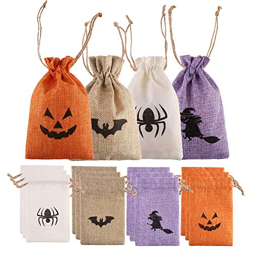 Halloween Burlap Gift Candy Bags