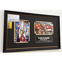 Mano firmato Dennis Bergkamp dell' Arsenal Foto Invincibles Display