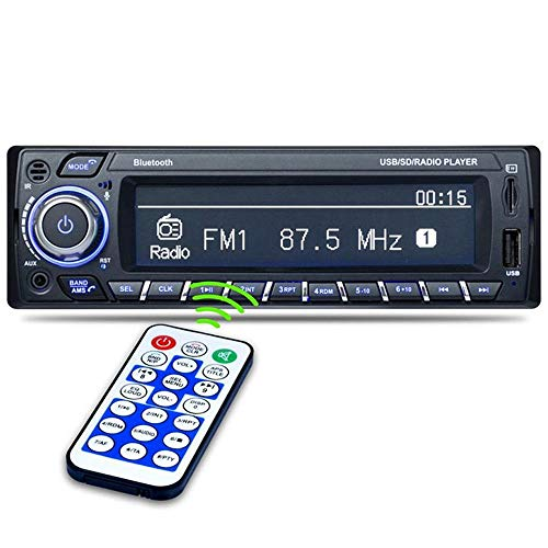 Bluetooth-Autoradio, Auto-Mono-Audio-FM-Radio MP3-Audio-Player, Unterstützung Für Bluetooth-Freisprechfunktion/FM/USB/SD-Steckplatz Drahtlose Fernbedienung -