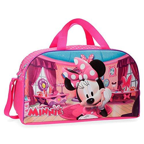 Disney Minnie Smile Bolsa de viaje, 45 cm, 23.4 litros, Rosa
