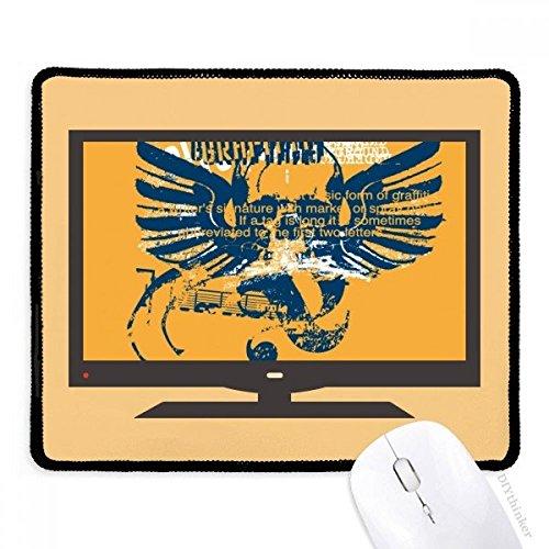 beatChong Blau Orange Schädel-Flügel Graffiti-Straßen-Computer Mouse Pad Anti-Rutsch-Gummi Mousepad Spiel ()