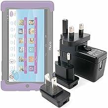 Kit De Adaptadores Con Cargador Para Cefatronic - Tablet Clan Motion Pro - ¡Para Que Pueda Conectar Su Smartphone Alrededor Del Mundo! - DURAGADGET