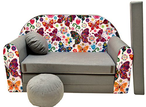 PRO COSMO Sofá Cama Infantil Multi Color A33, 168 x 98 x 60 cm