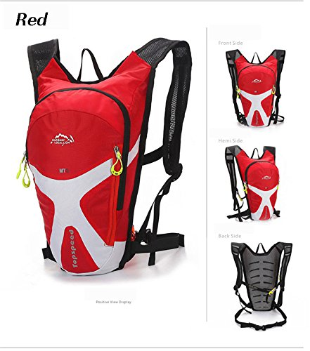 West Biking 5L-Bike Mini Rucksack Outdoor Reisen Laufen Camping Fahrrad Rucksack Rucksack Sport Biking Radfahren Wandern Tasche Unisex rosso  - rosso