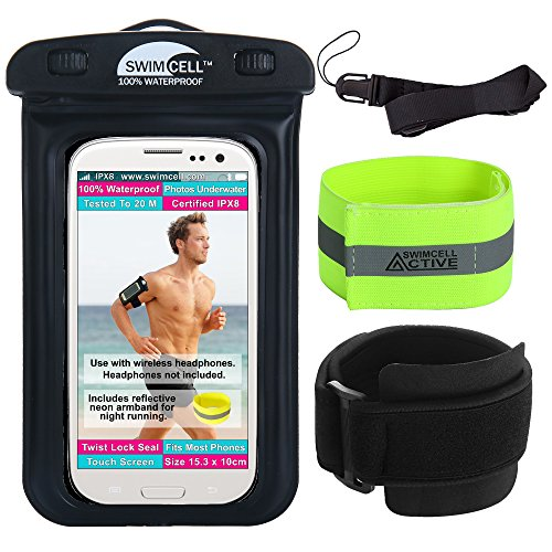 SwimCell wasserdichtes Armbandetui für Mobile kabellose Kopfhörer