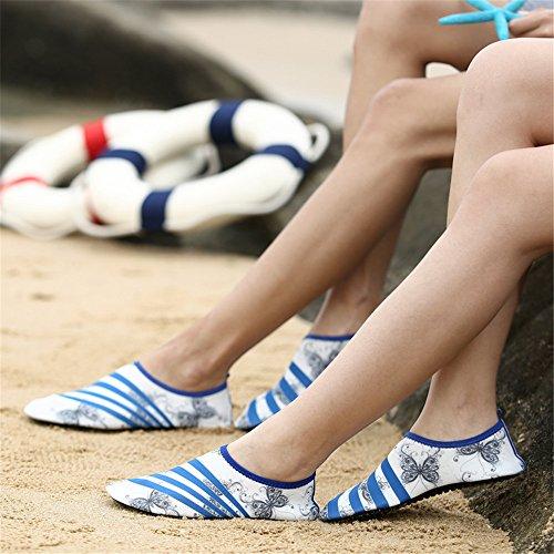 LeKuni Unisex Aquaschuhe Strandschuhe Wasserschuhe Badeschuhe schnelltrocknende Wassersport-Wasserschuhe, Barfussgefühl zum Schwimmen Barefoot Quick-dry Für Männer und Frauen Weiß