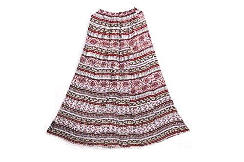 Crapgoos Long skirts for Women & Girls (Printed Pink)