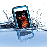 FLOVEME Set per Snorkeling Immersione Custodia Impermeabile Acquatici Waterproof Rafting Surfing Nuoto Cover Antipolvere Resistente Protettiva per iphone 7 Blu