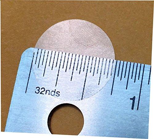 Claro Transparente Circulo Punto Pegatinas, 19 mm 3/4 Pulgada Redondo, 500 Etiquetas en un Rollo